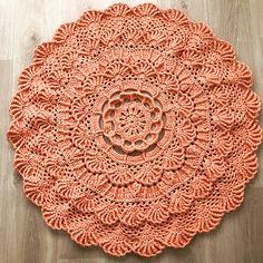 Crochet doily rug Decorative rug Round rug Cotton rug Floor