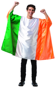 #1982 Ireland Flag Tunic - Show your pride, support, and love of country in your very own Flag tunic.  Generously cut to fit most, cheer on the National team, wear in parades, or even get spotted at the next World event!  Polyester.  One Size. #IrelandFlag #festival #funfest #halloween #flag #event