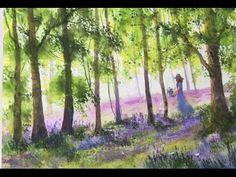 Весенний лес. Акварель, Легко. Bluebell Wood in watercolour