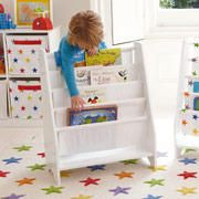 Sling Bookcase with Plain White Canvas from Great Little Trading Company
