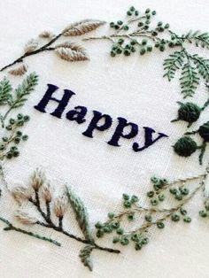 Happy borduurwerk