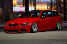 by David Zahler Wagon Cars, Bmw Wagon, Bmw Car Models, Bmw Cars, Bmw M3, E91 Touring, Slammed Cars, Street Racing Cars, Sports Wagon