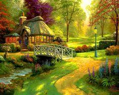 lovely forest cottage wallpaper - (#71619) - HQ Desktop Wallpapers ...