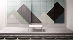 New education themed inspiration from BAUX. Acoustic tiles and panels-  www.baux.se