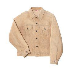 Blackbird Vintage Levi's Corduroy Trucker Jacket (360 BRL) ❤ liked on Polyvore featuring men's fashion, men's clothing, men's outerwear, men's jackets, jackets, coats & jackets, outerwear, tan, mens tan leather jacket and mens vintage jackets