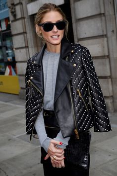Olivia Palermo seen leaving Victoria House after attending the OSMAN show