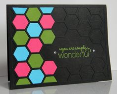With my hexagon embossing folder?  And a shim to keep one area clear for stamping?  Kreative Kristie