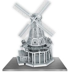 The Metal Earth Windmill models are amazingly detailed etched models that are fun and satisfying to assemble. Each model is made from a pair of completely flat laser-etched steel sheets.
