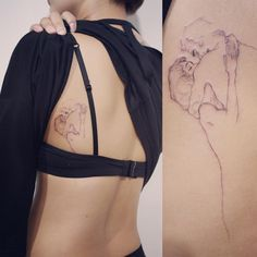 : Klimt's drawing . #tattoo #tattoos #tattooing #art #tattooistdoy #inkedwall…