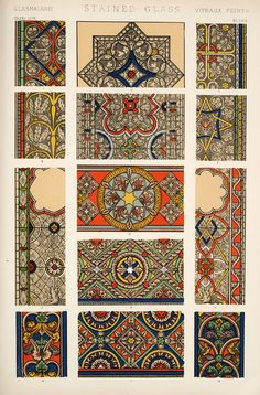 Jones, Owen, 1809-1874. / The Grammar of Ornament / Stained Glass
