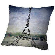 Paris Art Eiffel Tower No.1 Throw Pillow