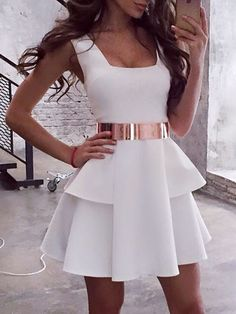 White Sleeveless Layered Pleated Mini Dress Women's Online Shopping Offering Huge Discounts on Dresses, Lingerie , Jumpsuits , Swimwear, Tops and More. # Source by hamzabiblidgoal clothes dresses Sexy Homecoming Dresses, Hoco Dresses, Sexy Dresses, Dress Outfits, Fashion Dresses, Mini Dresses, Layered Dresses, Wrap Dresses, Casual Dresses