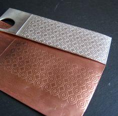 Cinnamon Jewellery: Rolling Mill Textures On Metal