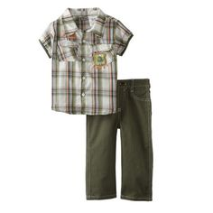 Little Rebels Baby-Boys Infant 2 Piece T Rex The Lizard King Pant Set $19 http://ilovebabyclothes.com/?page_id=198