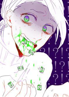 Dark bloody anime boy Guro JJBA
