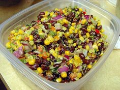 Black Bean & Corn Salad was a big hit at the Labor Day Beach Party! Super refreshing and served with Tostitos Multigrain Scoops. Yum!
