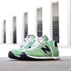 new balance light green