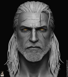 ArtStation - Geralt of Rivia done for custom witcher series of action figures, Hossein Diba
