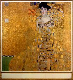 Adele Bloch-Bauer by Klimt: via Neue Galerie