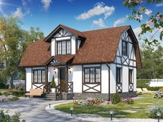 Ideas Exterior House Design Vacations For 2019 Tudor House, Traditional House Plans, Traditional Decor, Style At Home, Home Garden Design, House Design, German Houses, Fairytale House, Home Exterior Makeover