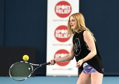 Ashley James Photos - Ashley James in action during the Sport Relief 2016 - 24 Hours of Tennis at National Tennis Centre on February 26, 2016 in London, England. (Photo by Tom Dulat/Getty Images for LTA). - Sport Relief 2016 - 24 Hours of Tennis