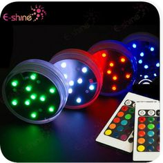 New Products 2014 Remote Controlled Led Submersible Lights