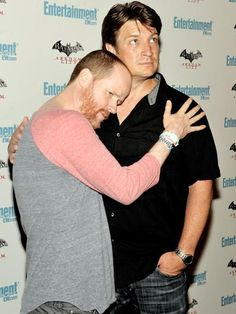 Joss Whedon and Nathan Fillion. Happy me.