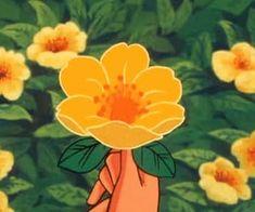 Aesthetic Painting, Aesthetic Drawing, Aesthetic Gif, Flower Aesthetic, Aesthetic Wallpapers, Yellow Aesthetic Pastel, Orange Aesthetic, Anime Flower, Anime Gifs