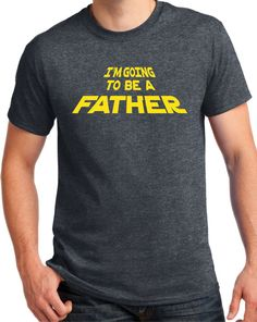 New Father Shirt star force baby announcement new dad by BluYeti