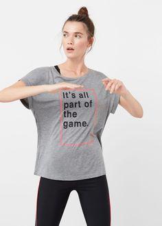 T-shirt training mensagem | MANGO