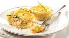 Parfait pour le brunch du Temps des Fêtes: mini-quiches déjeuner au saumon fumé et à l'orange