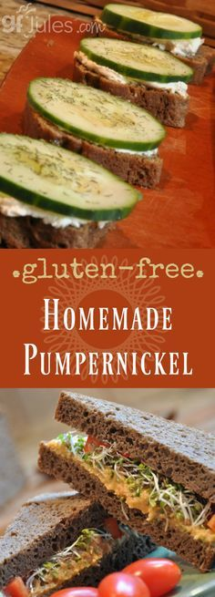 Gluten Free Pumpernickel Recipe - sub eggs and use water for vegan