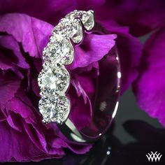 Hearts and arrows - Five 0.38ct A CUT ABOVE Diamonds set in our Skye Diamond Right Hand Ring
