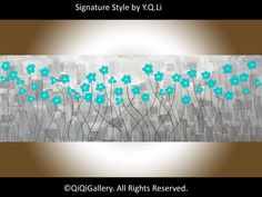 oil abstract  wall decor landscape painting flowers by QiQiGallery