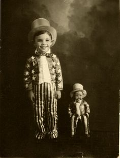 Young Uncle Sam and uncle sam toy doll, vintage photo. Vintage Children Photos, Vintage Pictures, Old Pictures, Vintage Images, Old Photos, Vintage Kids, Victorian Photos, Antique Photos, Vintage Photographs