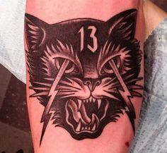 #cat #13 #tattoo