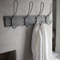 Metal hooks.