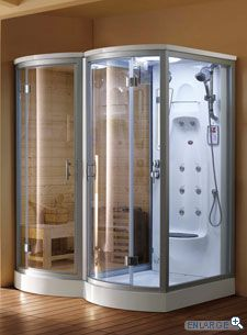 Sauna & Shower. Yes, please!