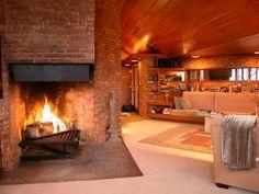 Fireplace design by Frank Lloyd Wright