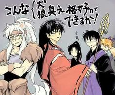 Inuyasha dressed as Koga and Koga dressed as Inuyasha XD X'D :D :'D :) :')