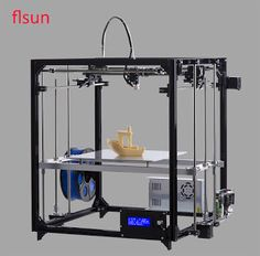 2017 Newest Large Printing Area 260260350mm Open Build Aluminium Frame 3D Printer kit Flsun Cube printer 3d with Heated Bed (32797885083)  SEE MORE  #SuperDeals