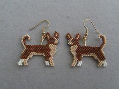Beaded Chihuahua Earrings от DsBeadedCrochetedEtc на Etsy