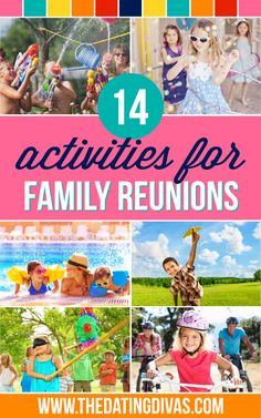 All of these fun activities would be perfect for our next family reunion!! www.TheDatingDivas.com