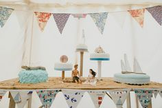 Seaside Cake Table Sand Indie Rustic Beach Marquee Wedding http://www.abiriley.co.uk/