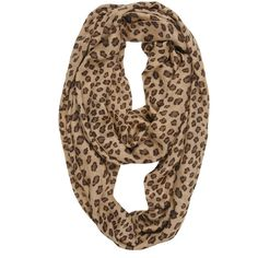 Tolani Infinity Leopard Scarf - as seen on Vanessa Hudgens ($86) ❤ liked on Polyvore