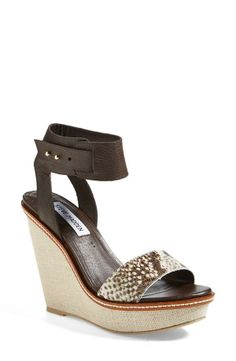 Gorgeous! Can't wait to step out in these Steve Madden snake print wedge sandals.