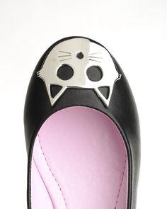 T.U.K. Kitty Cat Ballet Flat in Black
