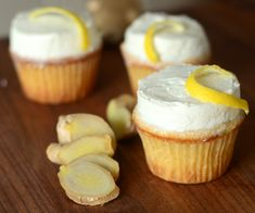 Double Ginger Cupcakes with Lemon Buttercream - Baking Bites Cupcake Recipes, Baking Recipes, Dessert Recipes, Sweet Pie, Sweet Bread, Mini Cakes, Cupcake Cakes, Cupcakes, Yummy Treats
