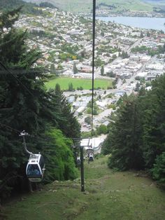 view of Queenstown from the cable car ...South Island New Zealand