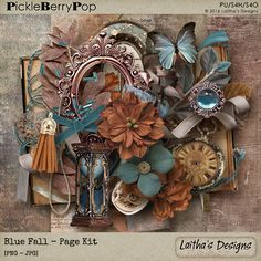 Blue Fall - Page Kit By Laitha's Designs